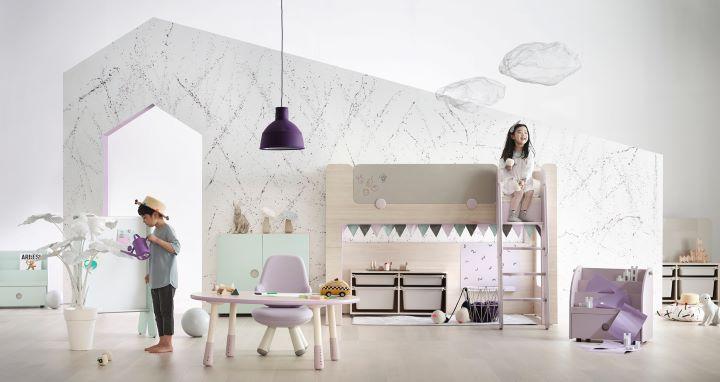 來自韓國的iloom家具主打兒童市場。(圖 .iloom 提供)