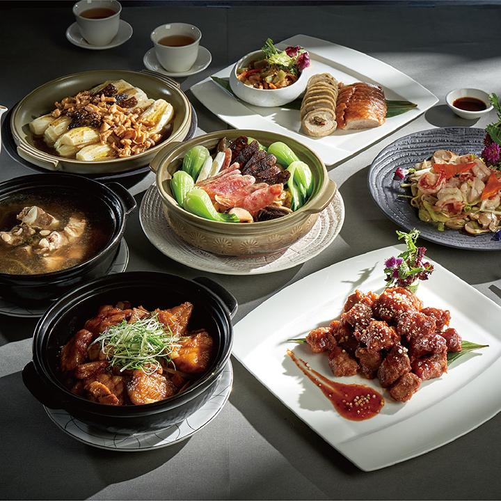 潮粵坊6人豪華分享餐 。(圖.  台北美福大飯店提供)