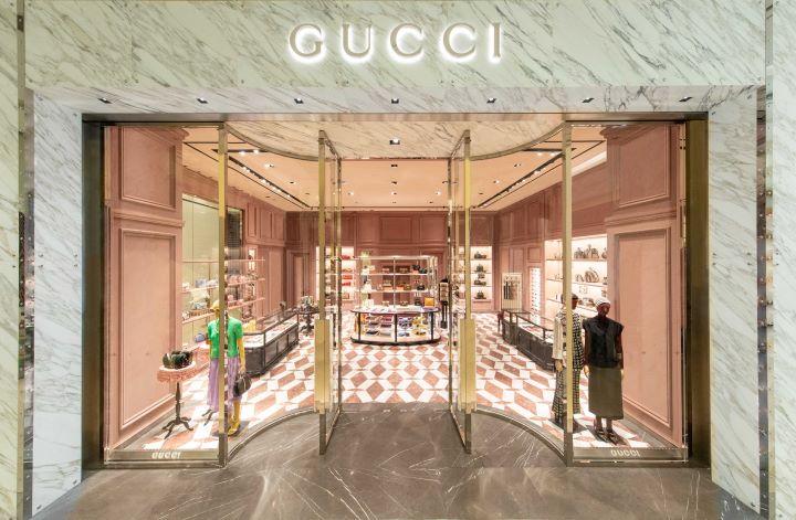 位於台北復興SOGO百貨的義大利GUCCI全新形象店。(圖.GUCCI 提供)