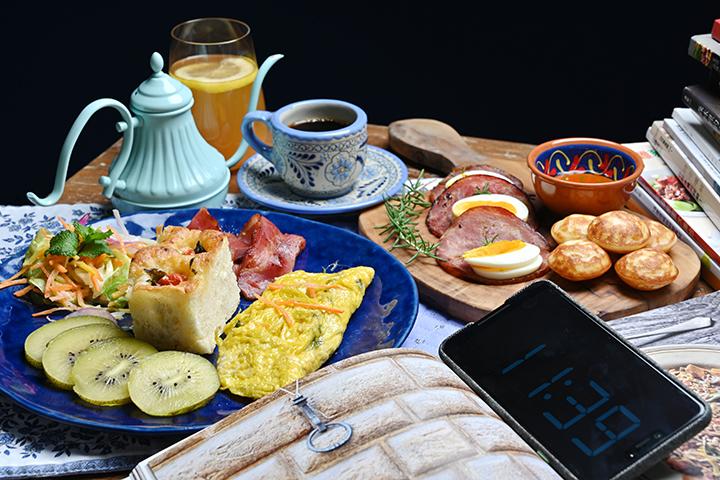早午餐的餐桌就該如此令人嚮往。 (圖.陳思明攝)