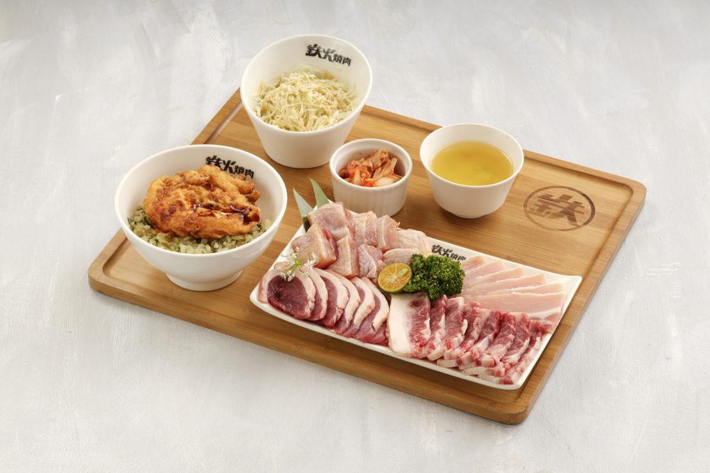 298元的肉量加倍套餐,為你補充滿滿蛋白質。十貫握壽司套餐也值得一試。(圖. 鉄火燒肉提供)