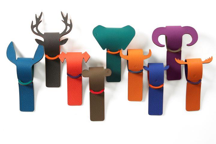動物造型的行李吊牌令人愛不釋手。(圖.愛馬仕提供)