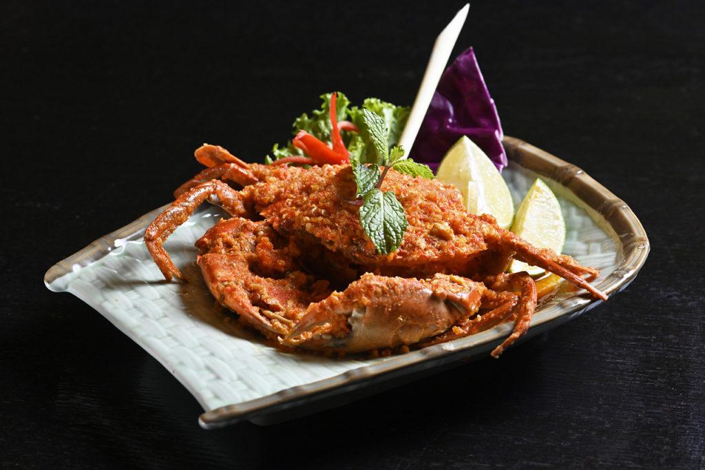 泰式酸辣螃蟹。(圖.陳思明攝)