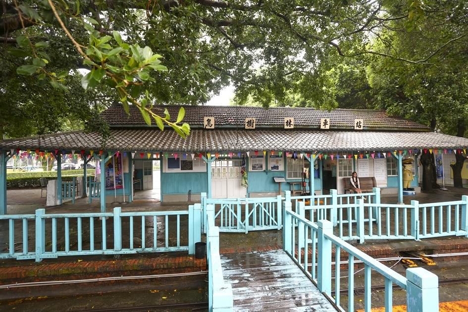 曾是甘蔗轉運站的烏樹林車站,有著優美的日式木造建築。( 圖.蔡暉宏)