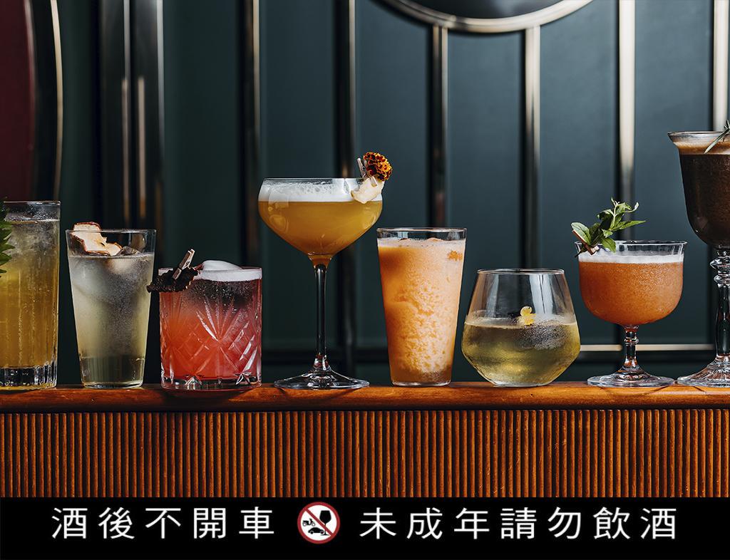 最新推出的八款調酒是以古早味冰菓室為主題。(圖.心潮飯店提供)