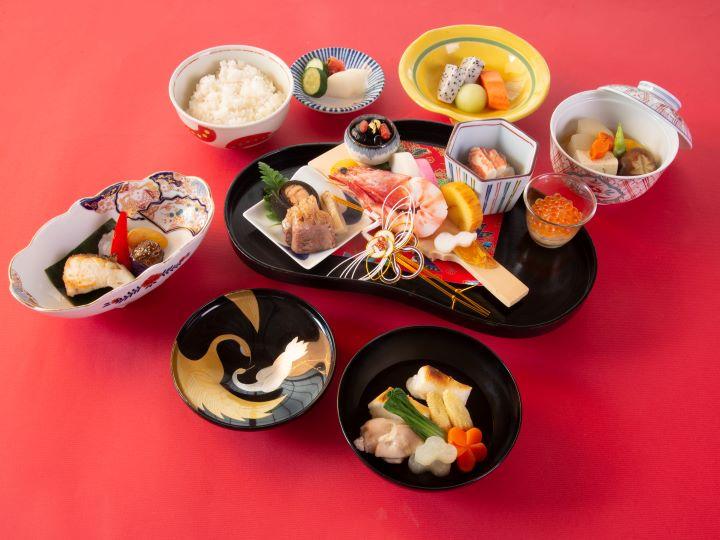 山里日本料理每年只在1月1日限定推出「元旦朝食」。(圖.大倉久和大飯店 提供)