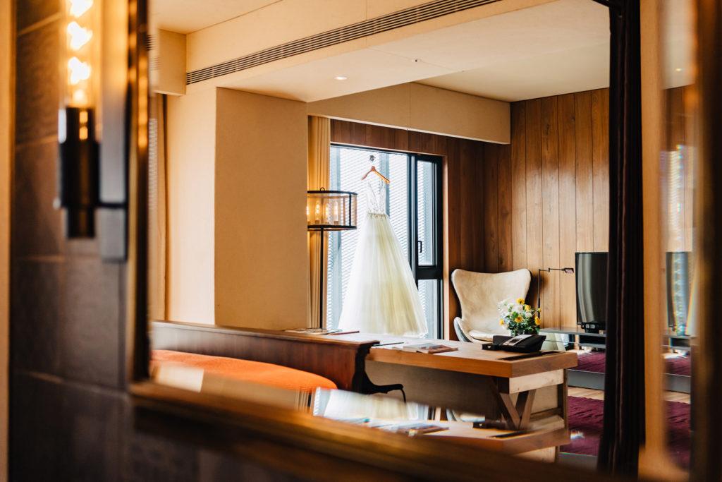 「體感婚禮」提供5種房型供新人與親友入住。 (圖.賦樂旅居提供)