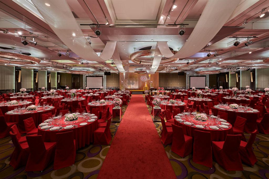 凱悅廳是政商名流指定舉辦豪華婚宴所在地。(圖.台北君悅酒店提供)
