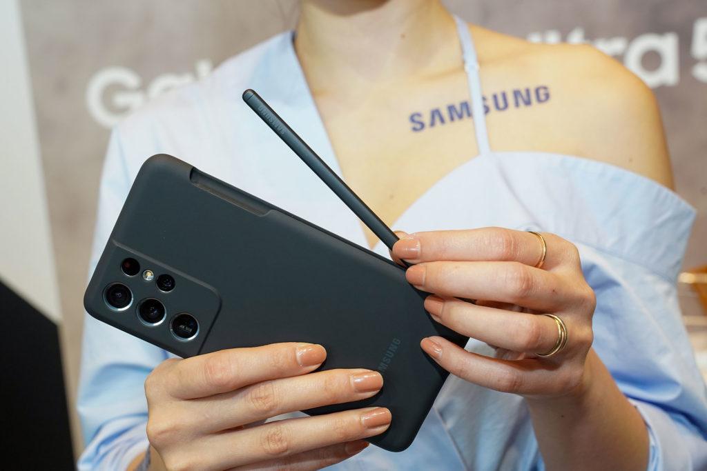 三星為S21 Ultra推出許多S Pen套件。(圖.蔡暉宏)
