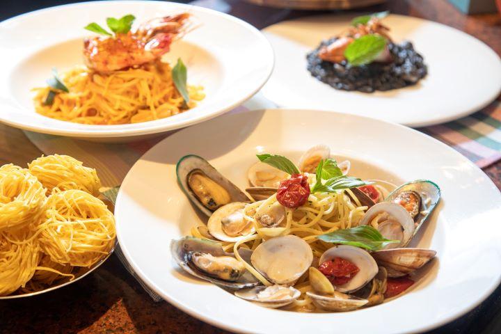 義大利招牌的麵料理和燉飯,本次新菜色全面升級用料,滿足饕客的需求。(圖.林玉偉 攝影)