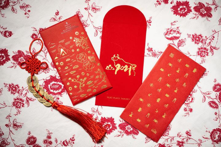 經典燙金的設計,讓紅包袋顯得喜氣熱鬧。(圖.徐家駒 攝影)