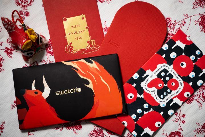 充滿創意設計質感的紅包袋特別引人矚目喜愛。(圖.徐家駒 攝影)