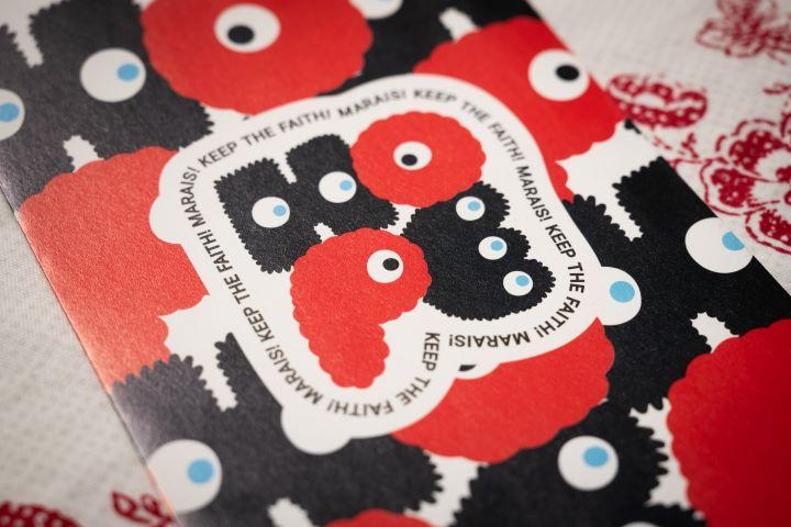 瑪黑家居邀請插畫家Abei合作,以「HOPE」為創作主題的設計。(圖.徐家駒 攝影)