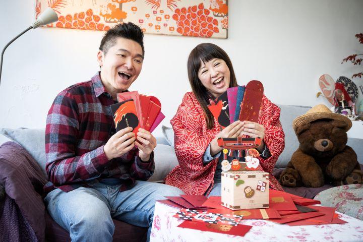 過年發紅包拿紅包,將對於來年的希望與祝福分享給摯愛的親友。(圖.徐家駒 攝影)