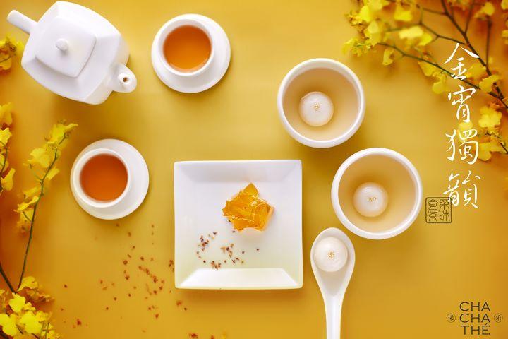 采采食茶的黃金糖是品牌招牌的甜點,擁有許多貴婦鐵粉。(圖.采采食茶 提供)