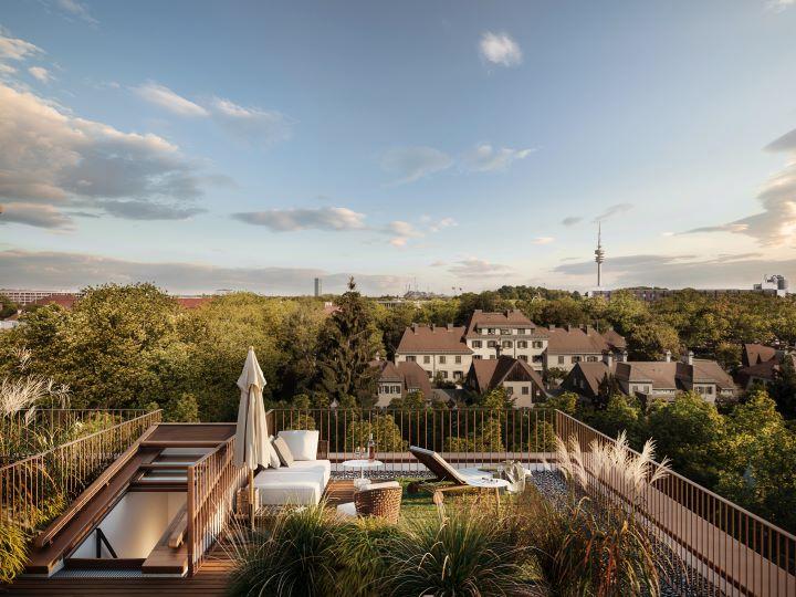 閣樓式的單位可於屋頂露臺享受慕尼黑的綠意風光。(圖.UN Studio 提供)