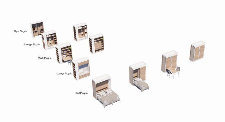 可收納開闔的機能設計,讓空間的變化更具彈性。(圖.UN Studio 提供)