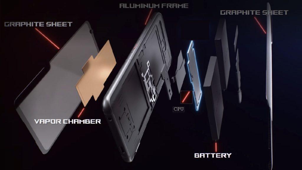 新架構將處理器置於手機中央,就在散熱結構上方。(圖.華碩提供)