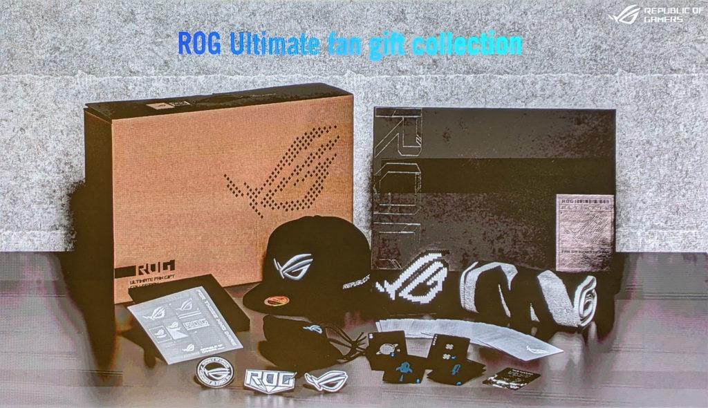 ROG Phone 5 Ultimate「信仰大禮包」內容物。(圖.簡報翻拍)