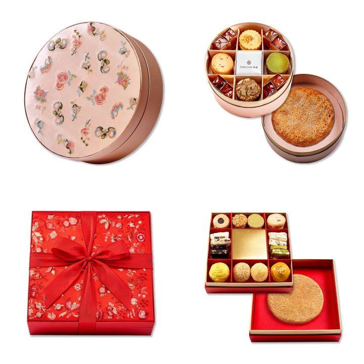 「盛心」囍餅巧心搭配的中式與西式糕餅,品嘗著最甜蜜的幸福。(圖.采采食茶 提供)