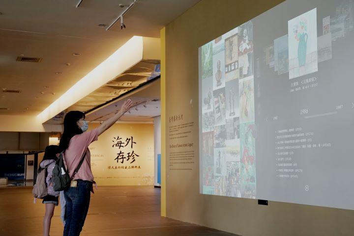 以數位科技打造的臺灣藝術長河。(圖.國立台灣美術館 提供)