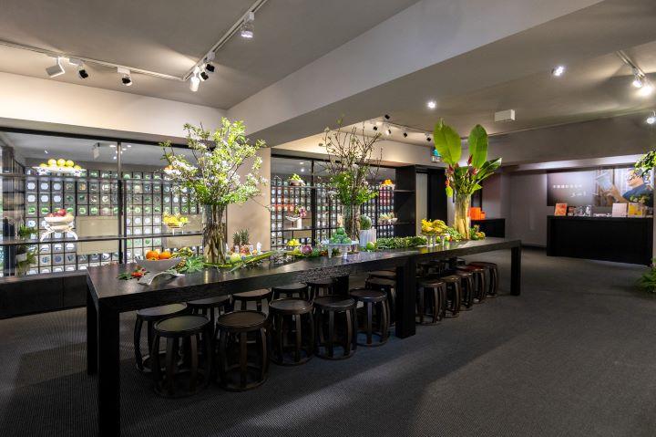 展覽廳化身成為主題展覽,在初夏一同感受台灣水果全新的姿態。( 圖.八方新氣 提供)