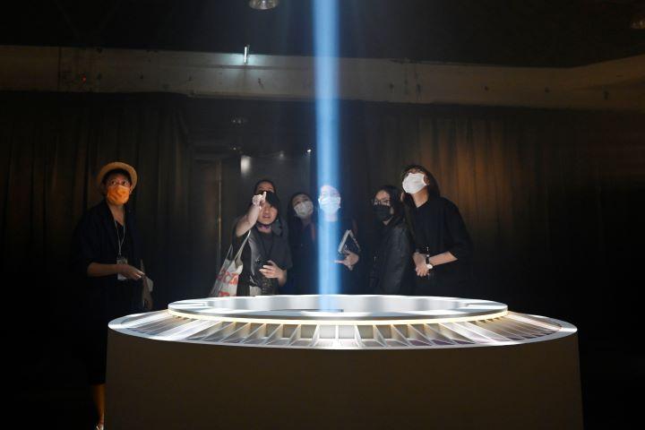 從宮廟到數位科技之間的延伸,創造出今年文博會獨特的體驗式展場。(圖.陳思明 攝影)